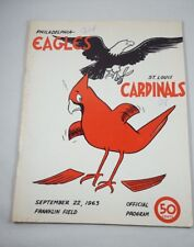 VTG 1963 Philadelphia Eagles St. Louis Cardinals Official NFL Football Program