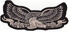 LIVE TO RIDE RIDE TO LIVE EAGLE Motorcycle MC Club NEW Biker Vest Patch PAT-1147