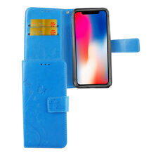 Apple iPhone X Hülle Case Handy Cover Schutz Tasche Flip Schutzhülle Bumper Blau