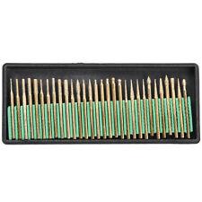 30pcs Titanium Diamond Rotary Burrs Bits Drill for Engraving Carving Dremel Tool