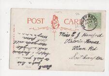 Miss EJ Haneford Victoria House Winn Road Southampton 1907 476a