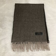 100% Cashmere Hand Tailored Made In Germany Brown Micro chevron Scarf