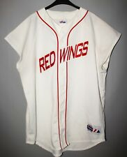 VINTAGE MAJESTIC NHL HOCKEY RED DETROIT RED WINGS BASEBALL JERSEY ADULT SIZE XL