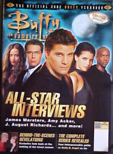 BUFFY THE VAMPIRE SLAYER 2002 YEARBOOK MAGAZINE! ANGEL COVER! NICE