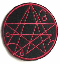 NECRONOMICON PATCH - 666 H.P. Lovecraft Black Metal Necromancy Satanic Evil Dead