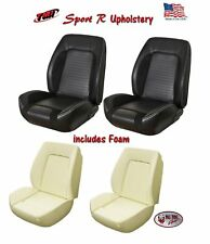 Sport R Front Bucket Seat Upholstery + Foam for 1967-68 Camaro TMI, Made in US