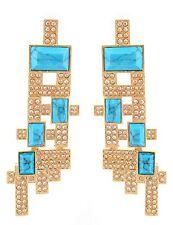 Zest Swarovski Crystal Geometric Drop Pierced Earrings