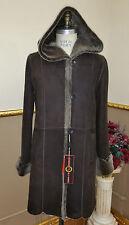 ~ Shearling Real Fur Coat Jkt ¾ Coat Sz M 8 / EU 38 40 * $3795 Дублёнка Мех NWT