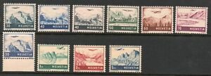 Switzerland 1941- Collection of 10. MNH.Very Fine.