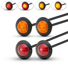 "Motorbike LED Stop & Tail Lights, Indicators, Turn Signals - 2"" 50mm - Set of 4"