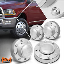 For 11-16 Ram 3500 Truck Dually 10-Hole Alcoa Front+Rear Wheel Rim Center Caps