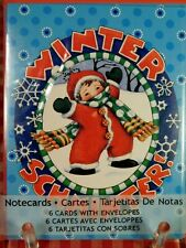 Mary Engelbreit Christmas Notecards 6 Cards w/ Envelopes New in Package 2012