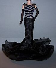 Barbie Doll Clothes 40th Anniversary Gown & Sheer Black Gloves Ensemble Lot