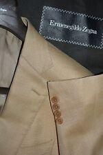 $2195 Ermenegildo Zegna Wool Silk Beige Sportcoat 38R 38 R ITALY