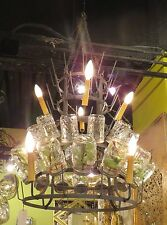 Large Iron Wine Bottle Chandelier | Metal Bar French Country