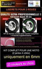 LISERET JANTE STICKER AUTOCOLLANT MOTO TOUTES MARQUES 6mm livré en 24h 23 Couleu