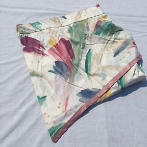 """Abstract Fabric Shower Curtain Croscill 72"""" x 76"""" Pink Green Blue Yellow"""