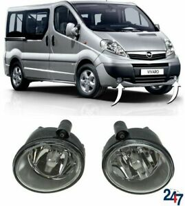 FRONT BUMPER FOG LIGHT PAIR SET FOR OPEL VAUXHALL VIVARO 2001-2014