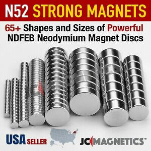 Super Strong N52 45 Rare Earth Round Neodymium Magnet Disc Thin Tiny Small Large