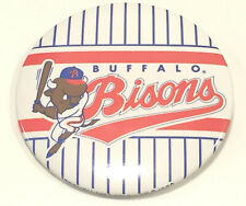 "Vintage Minor League Baseball Buffalo Bisons Large 3"" Pinback Button Stripes"