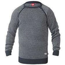 Mens Duke D555 Big Size Crew Neck Raglan Dog Tooth Jumper Sweater 3XL 4XL 5XL