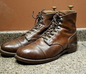 Red Wing 8111 Iron Ranger Amber Harness 9.5 Brown Cap Toe Boots