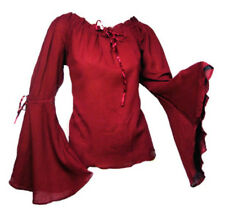 Gothic Mittelalter Larp Basic Bluse Ylenia Baumwolle Carmen Ethno 38 40 42