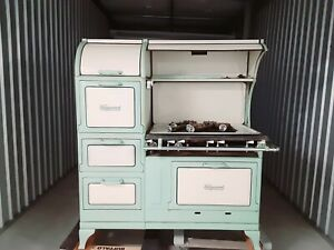 vintage antique Wedgewood oven stovetop renovated - gas fittings