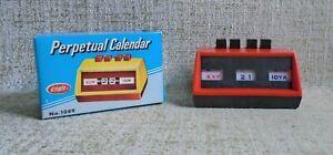 Perpetual Calendar No 1089 NIB Eagle UK Red
