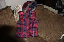 Arizona Jeans Co. Youth Girl Hooded Insulated Puffer Vest~Sz L 10-12~Msrp $29.50