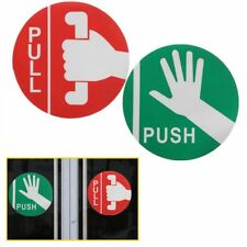 Push &Pull Door Store Cafe Shop Pub Window Vinyl Decal Warning Sign Note Sticker