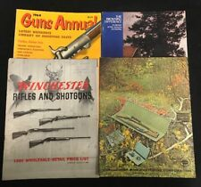 Vtg. Assorted Lot of 4 Firearms & Sporting Goods Catalogs/ Magazines/ Guides