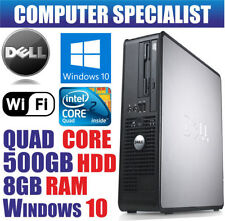 Desktop PC Intel Core 2 Quad windows 10 , Dimensione Hard Disk 500GB