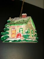 Vintage Russ Berrie Christmas Tree Ornament - Post Office