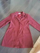 Ladies Velvet Style Burgandy Jacket Blazer Size 16
