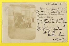 cpa Carte Photo Kodak Cachet PARIS Rue de Billancourt en 1904 VOITURE AUTOMOBILE