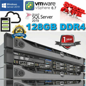 Dell PowerEdge R630 2x E5-2670v3 2.30Ghz 12Core 128GB DDR4 H330 Mini 8TB SAS 6G