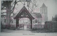 PRINT 10 X 7  SPEEN CHURCH SHOWN THROUGH THE LYNCH GATE - NEWBURY BERKSHIRE