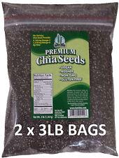 6 LB 100% PURE PREMIUM BLACK CHIA SEEDS VEGAN GLUTEN-FREE Non-GMO GROWN ORGANIC