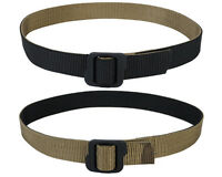 Tactical Outdoor Military Double-sided Nylon Duty Belt Black & Coyote Brown