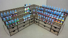 Paint Stand 2 racks + draws Bottle Storage Warpaint Vallejo warhammer 40k wargame
