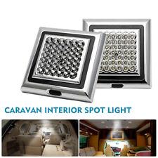 2x 12V 42 LED Luz Interior Proyector Cuadrado para Autocaravana Caravana Barco
