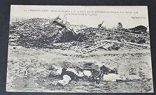 CPA GUERRE 14-18 ZEPPELIN LZ 77 Et le Boche tombé de l'appareil REVIGNY 1916