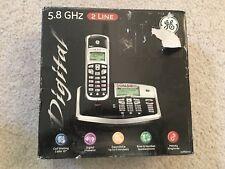 New GE 5.8GHz 2 Line 25865GE3 Digital Expandable to 8 handsets Base Speaker