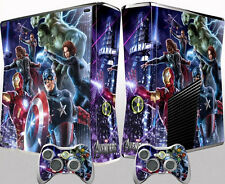 Avengers Sticker Cover Wrap Skin Decal For Xbox 360 Slim Console Controller