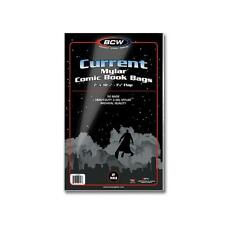 1 Pack of 50 BCW Current Comic Book Mylar Storage Bags Sleeves 2 mil