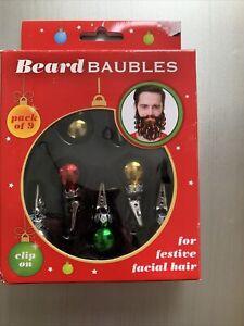 Beard Christmas Baubles Face Body Decoration