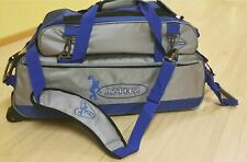 Tenpin Bowling Bag, 3 Ball Tote Roller with Shoe Bag - Blue/Grey - Brand New