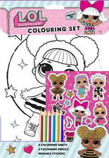 LOL Surprise Colouring Set With Pencils and Stickers