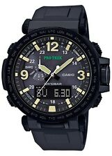 Casio Pro Trek PRG600Y-1 Triple Sensor Solar Tide Moon Compass Black Watch